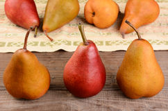 Three Pears Closeup Stock Image