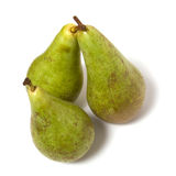Three pears isolated. On the white background Royalty Free Stock Photos