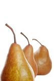 Three pears Isolated Royalty Free Stock Images