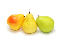 Three pears isolated on the wh Royalty Free Stock Photos