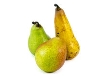 Three Pears. Isolated on white background Royalty Free Stock Images