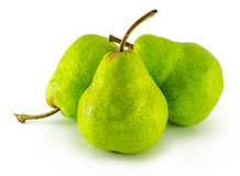 Three pears isolated on white background. Royalty Free Stock Photos