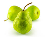 Three pears isolated on white background. Stock Photos