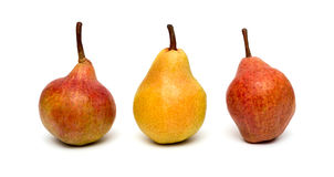 Three pears Royalty Free Stock Photos