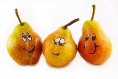 Three Pears with a joy Stock Photography