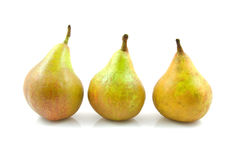 Three pears in a row Royalty Free Stock Photography