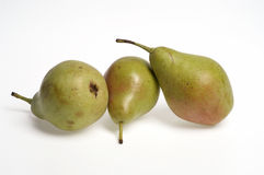 Three pears,three pears with white background Stock Photo