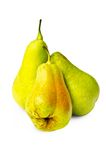 Three pears on a white background Stock Image