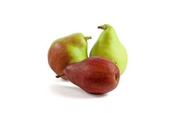 Three pears  on white Royalty Free Stock Image