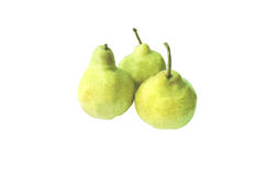 Three pears. On a white background Stock Photos