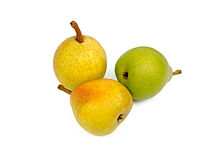 Three pears Stock Photo