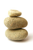 Three pebbles stack Stock Photos