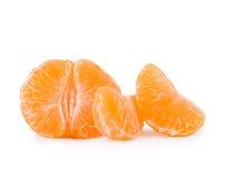 Three peeled tangerines Royalty Free Stock Photo