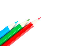 Three pencil Royalty Free Stock Images