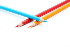 Three pencils Royalty Free Stock Photos