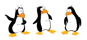 Three_penguins_look_out vector illustration