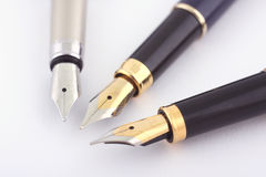 Three pens. On white background stock images
