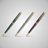 Three pens Royalty Free Stock Photo