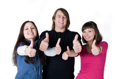 Three people Stock Photo