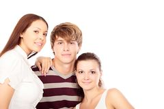 Three of people royalty free stock photo
