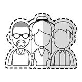 Three people cartoon icon image Royalty Free Stock Images
