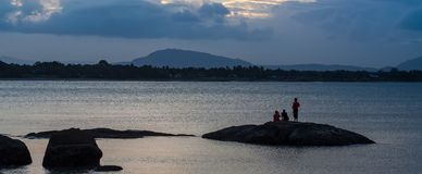 Twilight at Queens Beach, Bowen royalty free stock image