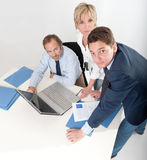 Three people at work royalty free stock photography