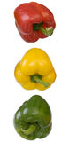 Three pepper with the torn off handles Royalty Free Stock Image