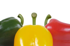 Three pepper on a white background Stock Image
