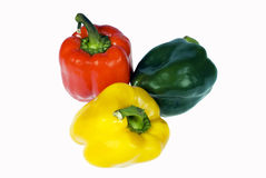Three peppers. With an isolation on a white background Stock Image