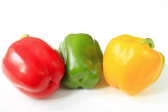 Three peppers Stock Photo