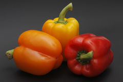 Three peppers Stock Images