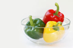 Three peppers bowl Royalty Free Stock Image