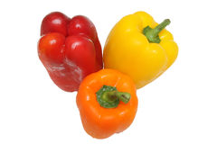 Three peppers isolated Stock Images