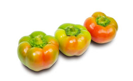 Three peppers isolated on white Royalty Free Stock Photo