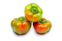 Three peppers isolated on white Royalty Free Stock Photos