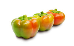 Three peppers isolated on white Stock Photo