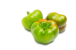 Three peppers isolated on white Stock Image