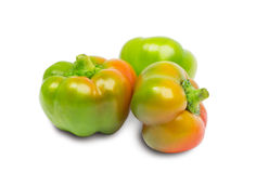 Three peppers isolated on white Royalty Free Stock Photography