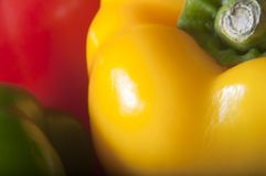Three Peppers Macro Stock Images