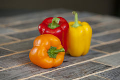 Three peppers Royalty Free Stock Images