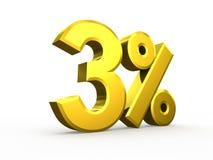 Three percent symbol isolated on white background Stock Image