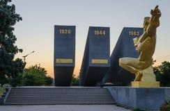 Three Perekopa assault at dawn. In Krasnoperekopsk Royalty Free Stock Photo