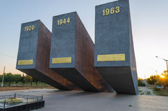 Three Perekopa assault at dawn. In Krasnoperekopsk Royalty Free Stock Photos