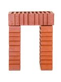 Three perforated bricks Royalty Free Stock Photography