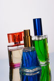 Three perfume bottles Royalty Free Stock Photography