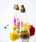 Three Perfume in a row Stock Photo