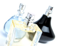 Three perfumes Royalty Free Stock Photography