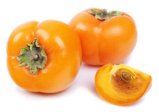Three persimmon Stock Photo