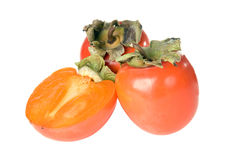 Three persimmon Royalty Free Stock Photography